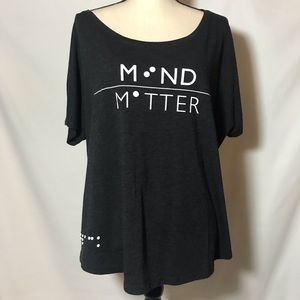 WOmens Black T MInd Matters XXL